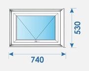 Окна Пвх 740х530 профиль Brugmann-7