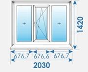 Окна Пвх 2030х1420 профиль Rehau
