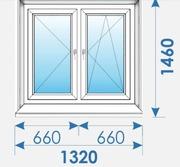 Окна Пвх 1320х1460 дешево профиль Rehau-5